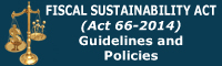 Fiscal Sustainability Act (66-2014) Guidelines and Policies